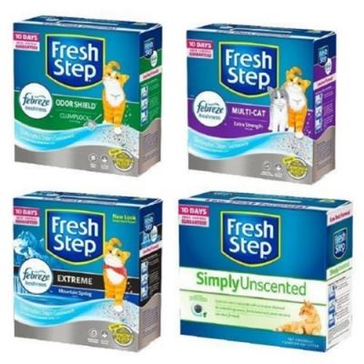 Fresh Step菲麗思-特強結塊貓砂25磅/11.3公斤(兩盒組)