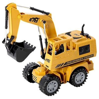 《Machinery Truck》360度旋轉遙控怪手挖土機工程車 附全套充電配備