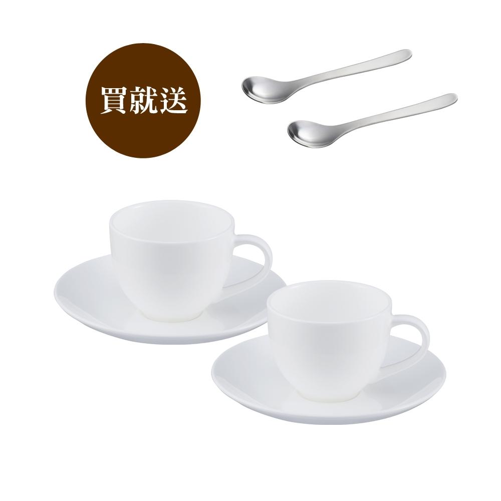 【買就送2入柳宗理咖啡匙】柳宗理 骨瓷咖啡杯對杯組