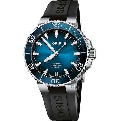 Oris豪利時 Aquis 五日鍊全新自製機芯 Calibre 400 潛水錶 0140077694135-0742274FC