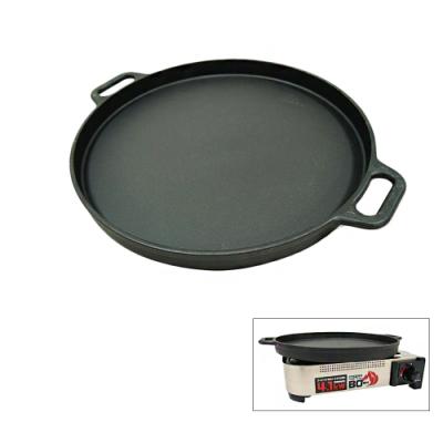 韓式不沾鍋平底鑄鐵烤盤