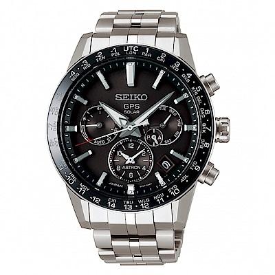 SEIKO ASTRON GPS雙時區鈦金屬太陽能腕錶/5X53-0AB0D/SSH003