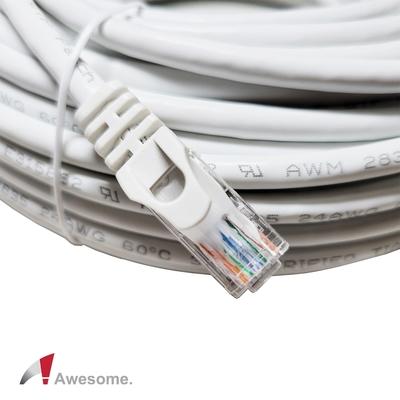 Awesome CAT.6 Gigabit 高速網路線-30M(白) – AWD-W58-B300