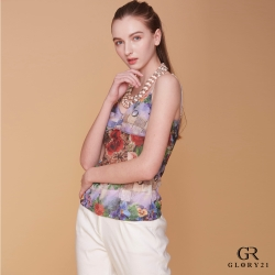 GLORY21 EDM豹紋印花細肩帶背心