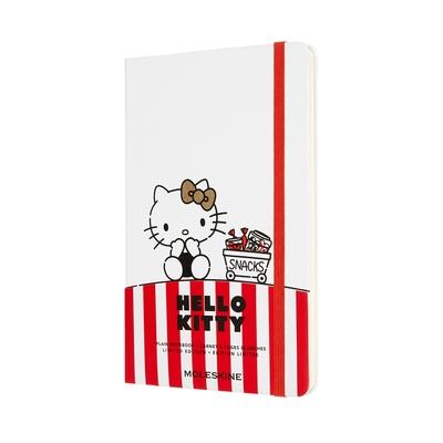 MOLESKINE HELLO KITTY限量筆記本(L型) - 白色空白