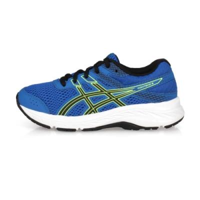 ASICS 中童慢跑鞋 CONTEND 6 GS 藍黑螢光綠