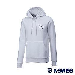K-SWISS High Front Hoodie 刷毛連帽上衣-女-白