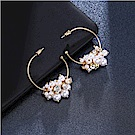 Hera 赫拉 珍珠半圓耳環