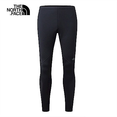The North Face北面男款黑色保暖透氣運動緊身褲|3CCLJK3