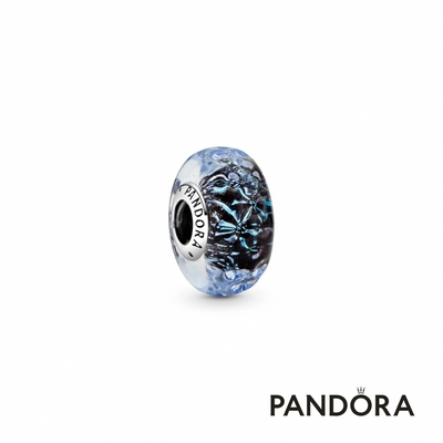 【Pandora官方直營】深藍 Murano 琉璃海洋串飾