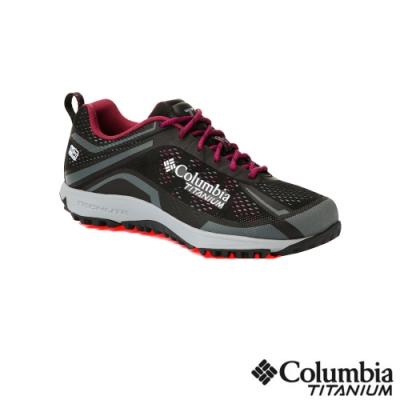 Columbia 哥倫比亞 女款-鈦 Outdry 防水健走鞋-黑色