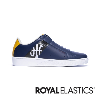 ROYAL ELASTICS Icon Genesis 藍黑黃真皮運動休閒鞋 (男) 01994-583