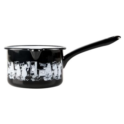 Muurla 嚕嚕米琺瑯醬汁鍋 800ml 家庭生活 黑色