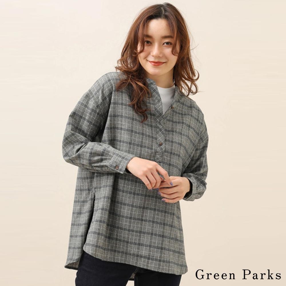 Green Parks 復古格紋襯衫上衣