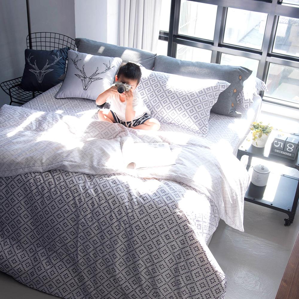 OLIVIA Oliver 加大雙人薄床包薄被套四件組 300織萊賽爾TENCEL 台灣製