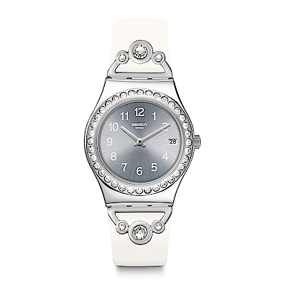 Swatch PRETTY IN WHITE 派對女王手錶