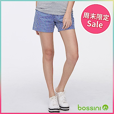 bossini女裝-印花輕便短褲04天藍