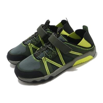 Merrell 戶外鞋 Hydro Free Roam 童鞋 快乾 後跟鬆緊帶 好穿脫 赤足腳感 綠 黃 MK264249