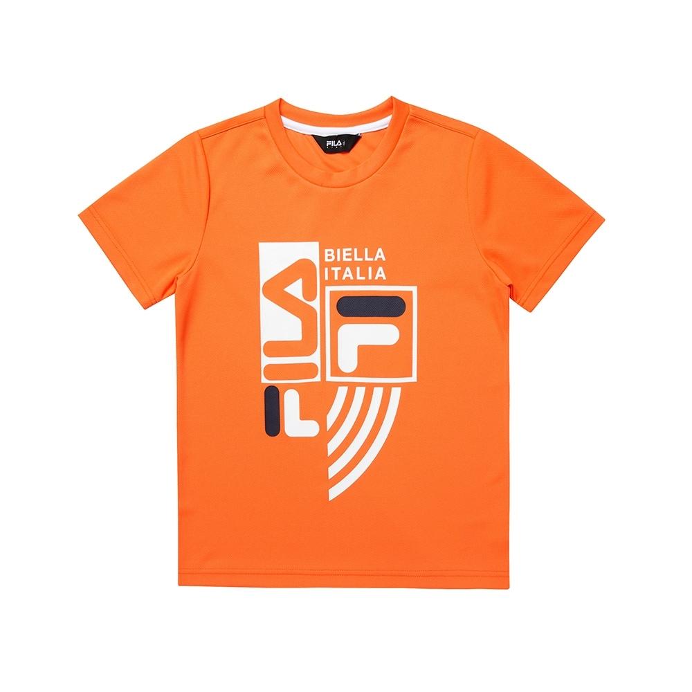 FILA KIDS 童吸濕排汗上衣-橘 1TEU-4905-OR