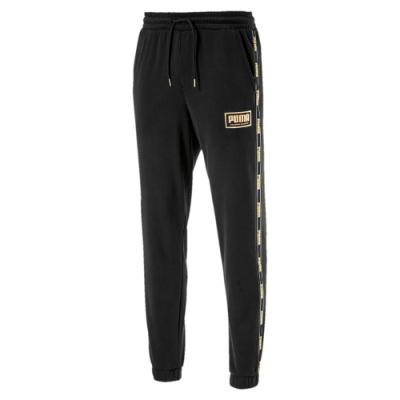 PUMA-男性基本系列Holiday長褲-黑色-歐規