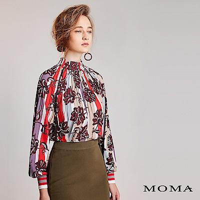 限時商品 | MOMA 花卉條紋袖口上衣