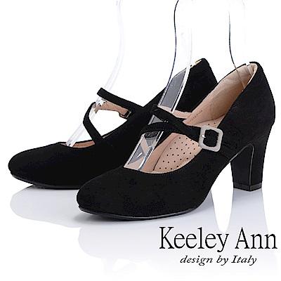 Keeley Ann 簡約美感~經典素面質感全真皮瑪莉珍鞋(黑色)