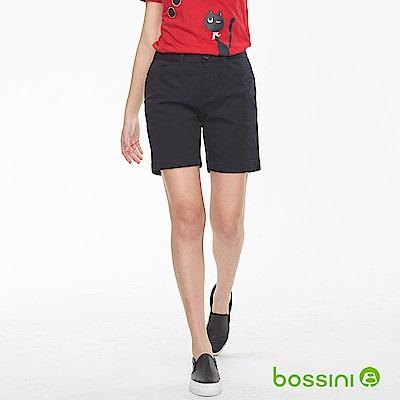 bossini女裝-素色卡其短褲01黑