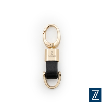 74盎 精緻雙頭真皮鑰匙圈[TN-033]金黑