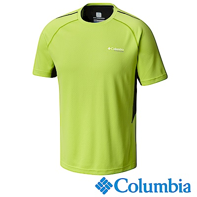 Columbia 哥倫比亞 男-鈦防曬15涼感快排短袖上衣綠色UAE06330AP