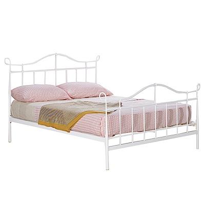 品家居 艾露5尺鐵製雙人床架(不含床墊+二色可選)-169x197x116cm免組
