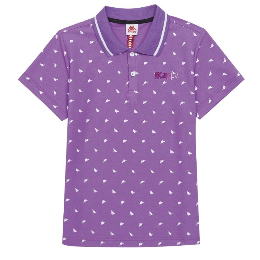 KAPPA義大利 時尚吸濕排汗女針織短袖POLO衫 粉紫34172VWXDC