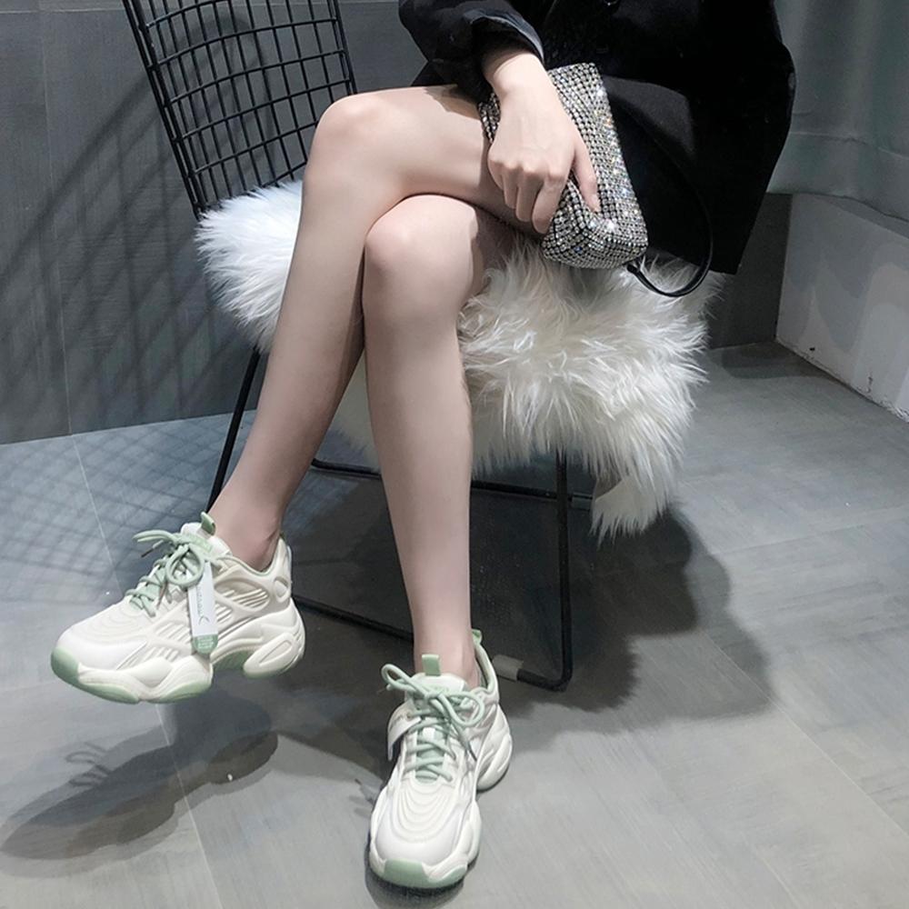 LN 現+預 網面透氣內增高厚底老爹鞋-2色 (綠色)