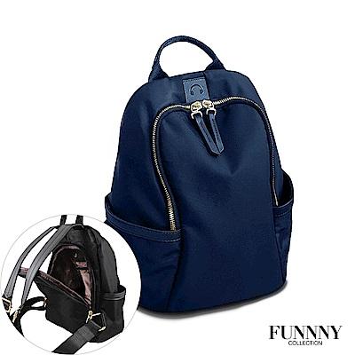 FUNNNY 防盜尼龍系列後背包 Viola 藍
