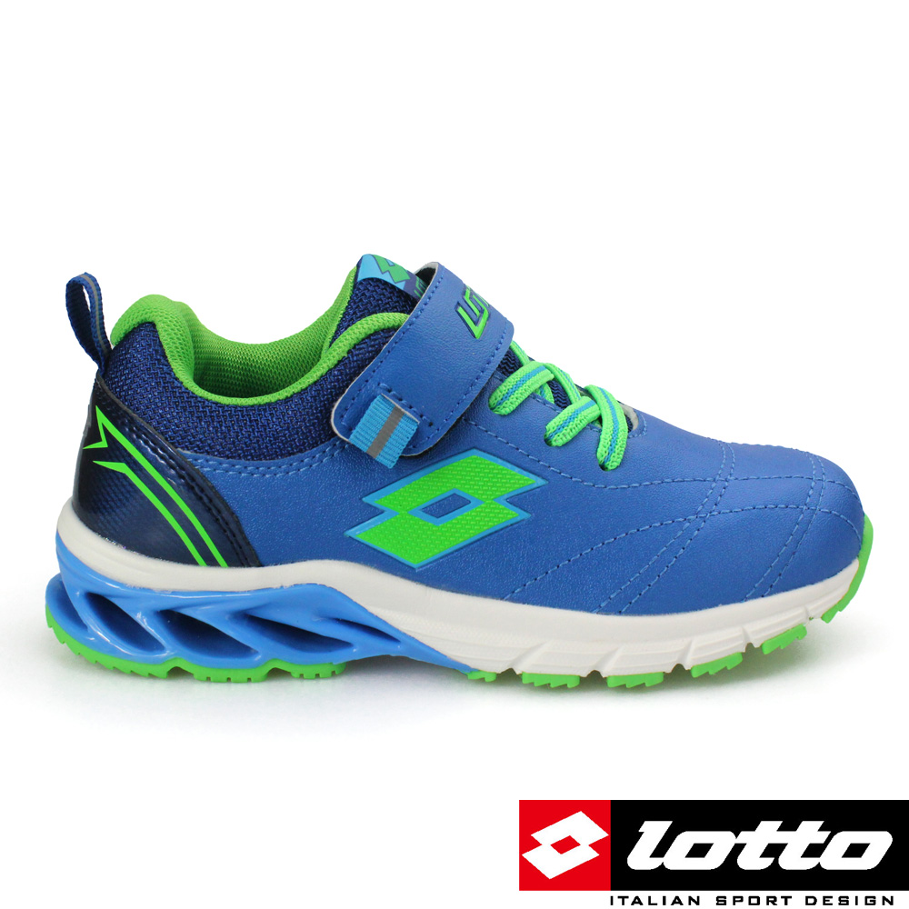 LOTTO 義大利- 中童 碟形避震跑鞋 (藍)