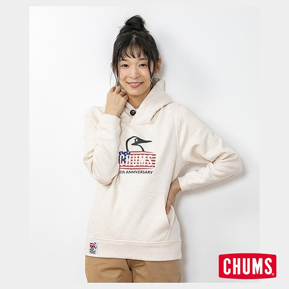 CHUMS 日本 女 35周年紀念帽T Booby Face 米