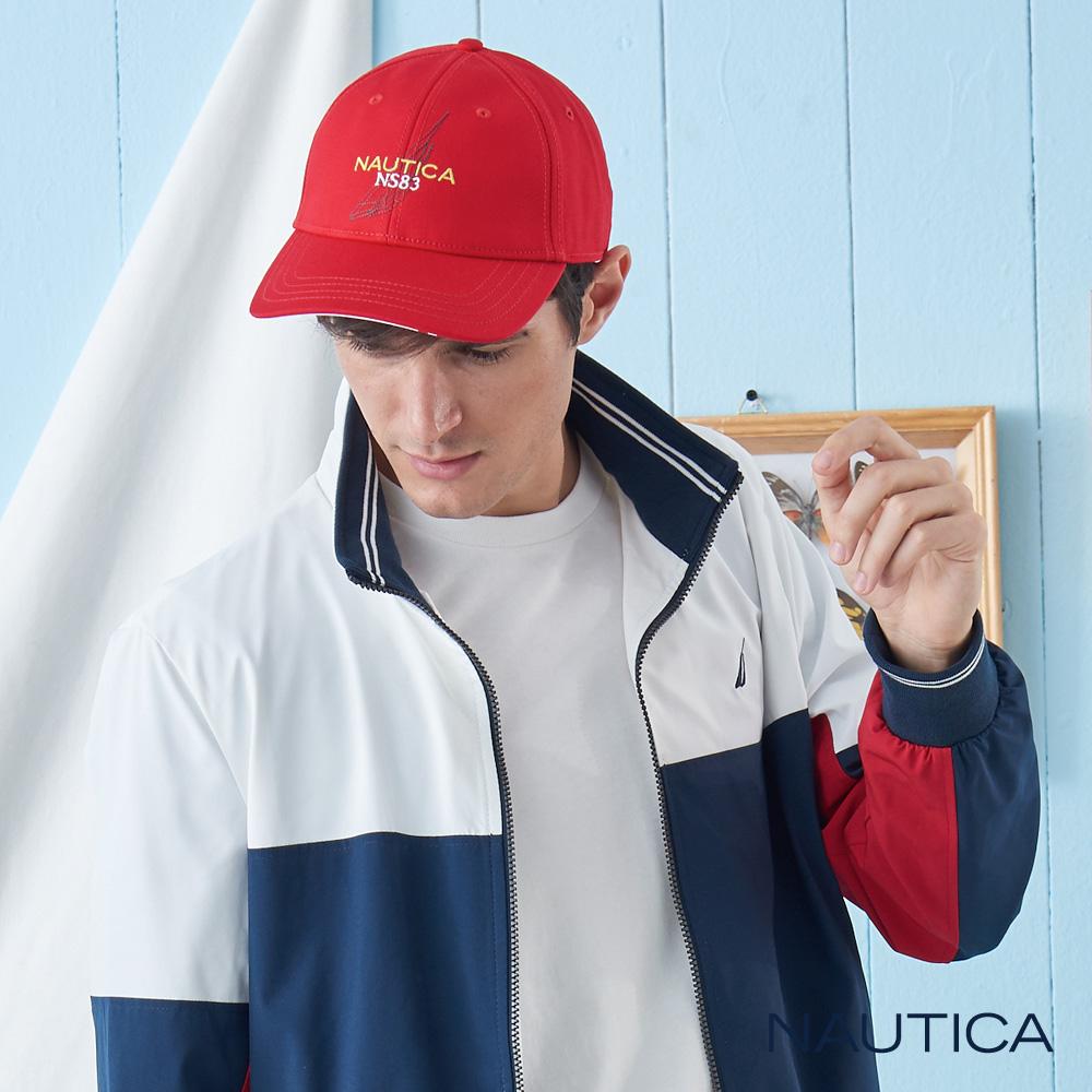 Nautica經典品牌LOGO休閒帽-亮紅