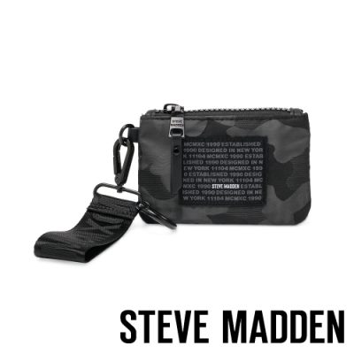 STEVE MADDEN-BRICHIE 時尚潮流款 字母零錢包-黑色