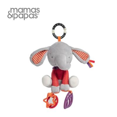 【Mamas & Papas】草莓象艾比(搖鈴吊飾玩偶)