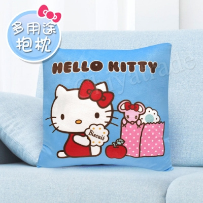 Hello Kitty凱蒂貓 點心時間抱枕/午安枕/腰靠枕/汽車枕/靠墊