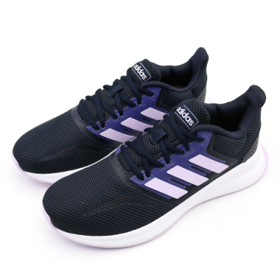 Adidas RUNFALCON 女 慢跑鞋 黑粉紫