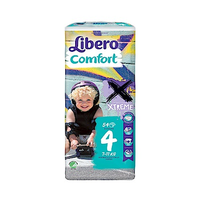 麗貝樂-嬰兒紙尿褲-極限版4號-M-54片x4包