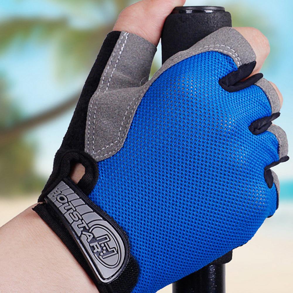 防滑透氣運動半指手套 短指露指手套-(快)