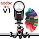 GODOX神牛 V1 Kit TTL 鋰電池 圓燈頭 閃光燈