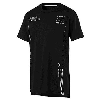 PUMA-男性訓練系列N.R.G.圖樣短袖T恤-黑色-歐規