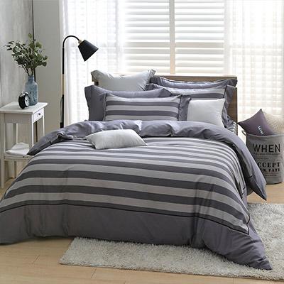 LASOL睡眠屋-300織設計款精梳棉 加大兩用被床包四件組 表現空間
