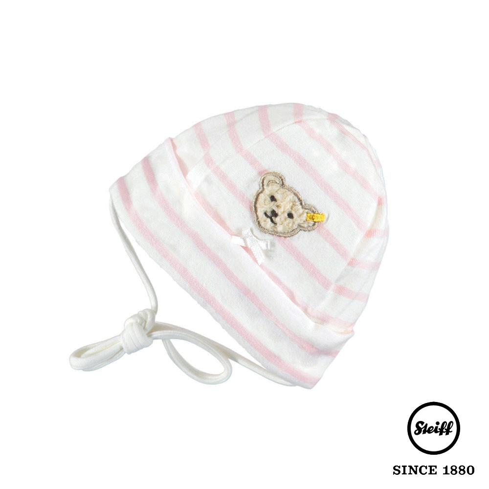 STEIFF德國精品童裝 粉紅條紋圓頂帽