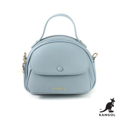 【KANGOL】英倫風格-簡約手提包/側背包-淺藍