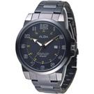 ALBA 都會紳士時尚大數字男錶-全IP黑(AS9C67X1)/46mm