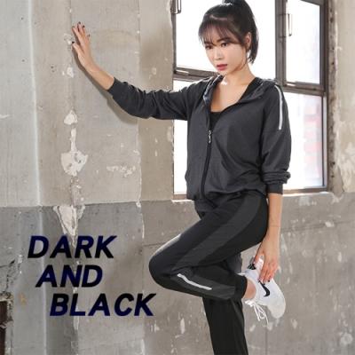【AFAMIC 艾法】新款瑜珈服透氣寬版外套式運動健身套裝