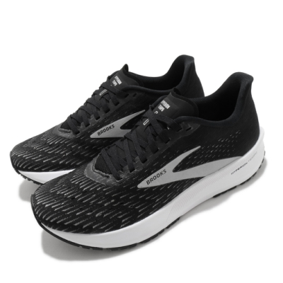 Brooks 慢跑鞋 Hyperion Tempo 運動 女鞋 路跑 緩震 DNA科技 透氣 健身 球鞋 黑 白 1203281B091